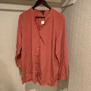 Eileen Fisher Sand washed Tencel blouse